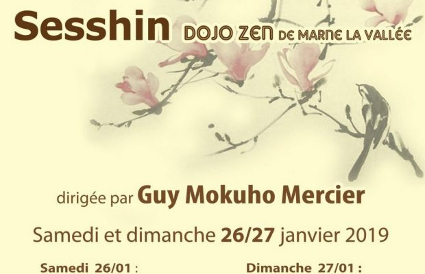 26-27 Jan – Zen Weekend at Marne La Vallée directed by Guy Mokuho
