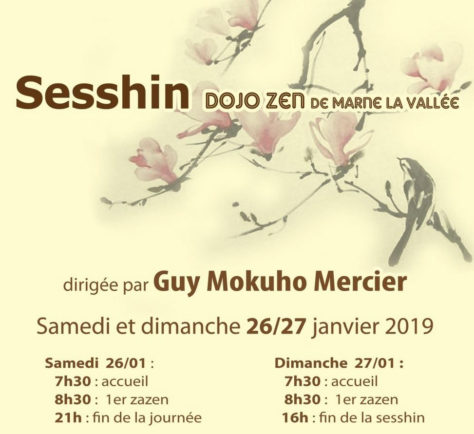 26-27 Jan – Weekend Zazen Dirigée par Guy Mokuho à Marne La Vallée